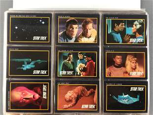Full binder of Star Trek Collector Cards and more
