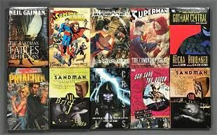 Group of 10 DC Comics and Vertigo trade comics