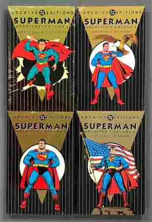 Group of 4 DC Comics Archive Edition Superman trade