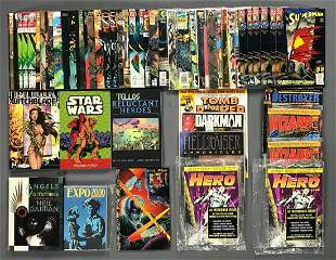 Group of approximately 50 assorted comic books, trade