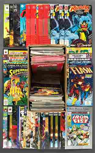 Short box approximately 100 assorted comic books
