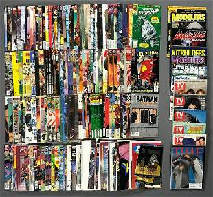 Group of approximately 200 comic books and more