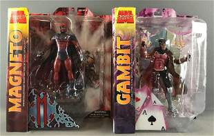 Group of 2 Marvel Select Action Figures-Magneto and