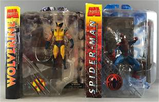 Group of 2 Marvel Select Action Figures-Wolverine and