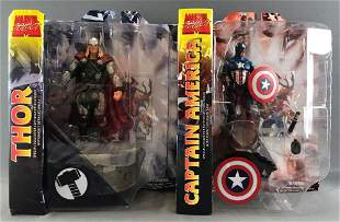 Group of 2 Marvel Select Action Figures-Thor and