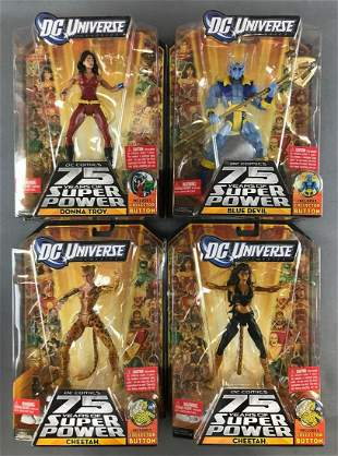 Group of 4 Mattel DC Universe Classics 75 Years of