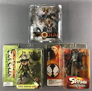 Group of 3 assorted McFarlane Toys action figures in