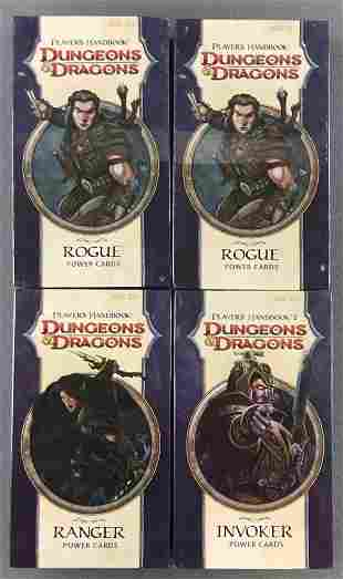 Group of 4 assorted Dungeons & Dragons Players Handbook