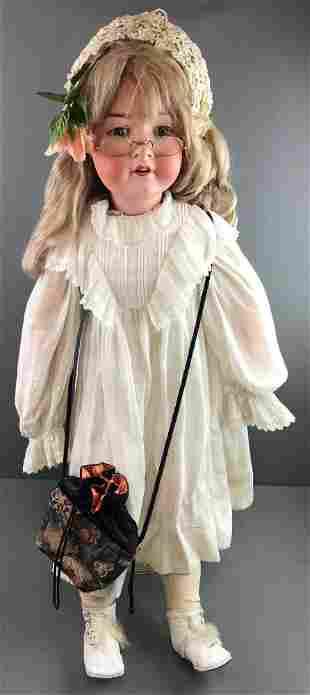 Antique 37 inch bisque doll Heubach Koppelsdorf