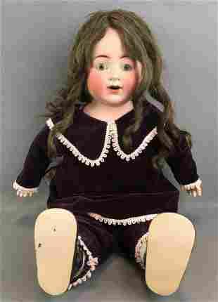 Vintage 20 inch German bisque doll  K&K toy company