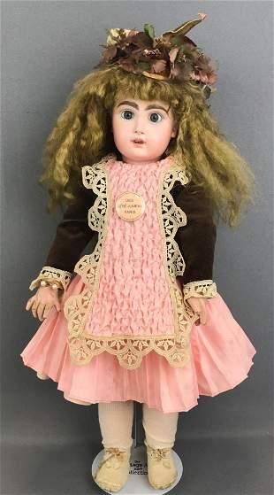 Vintage 19 inch bisque doll