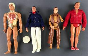 Group of 4 Vintage Male Action Figures