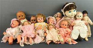 Group of 13 assorted ba dolls