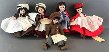 Group of 5 Madame Alexander Little Women dolls