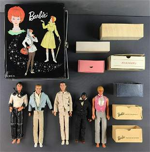 Group of 15 assorted Mattel male dolls