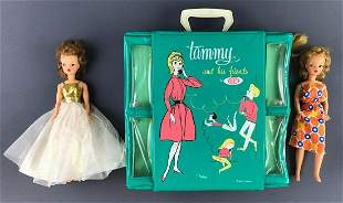 Group of 3 Ideal Toy Tammy dolls and case