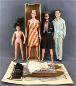 Group of 4 Remco Littlechap Family fashion dolls
