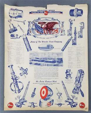 Vintage Wooster Brass fire fighting equipment