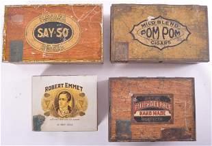 Group of 4 Vintage Advertising Cigar Tins