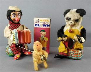 Group of 3 vintage musical toys