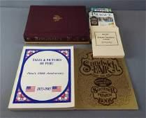Group of 6 books, Sandwich Fair, Peru IL, Prague and