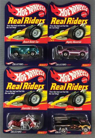Group of 4 Hot Wheels Real Riders Series 3 Limited