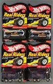Group of 4 Hot Wheels Real Riders Limited Edition