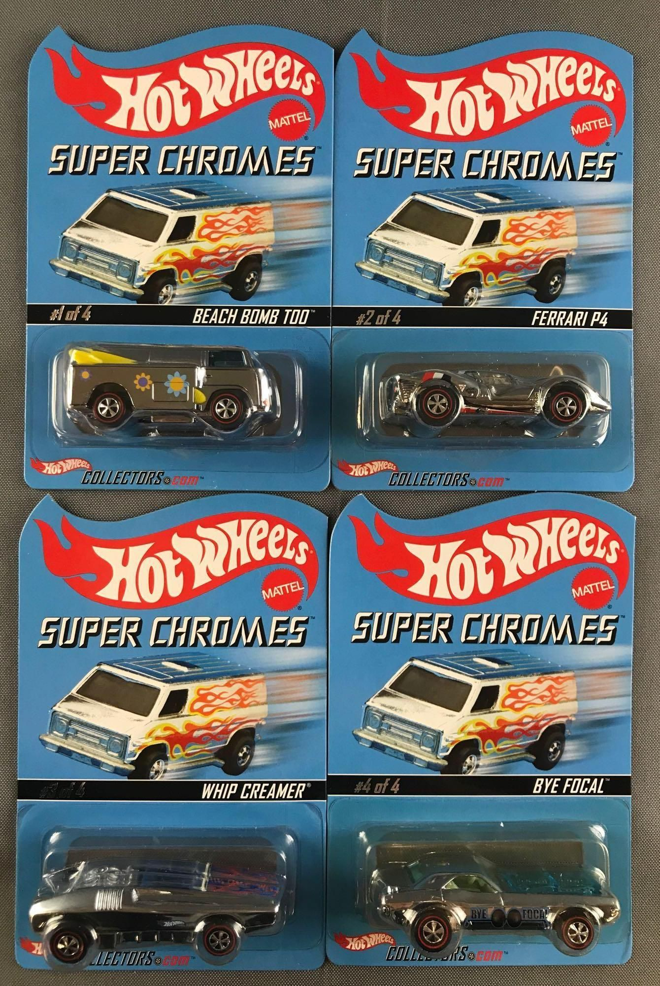 Group of 4 Hot Wheels Super Chromes Limited Edition