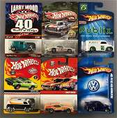 Group of 6 assorted Hot Wheels die-cast vehicles in