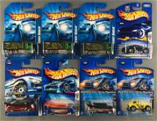 Group of 8 assorted Hot Wheels die-cast vehicles in
