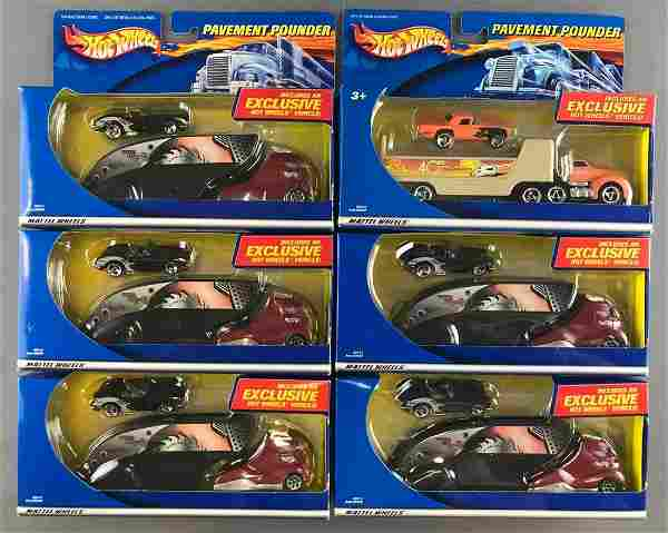 Group of 6 Hot Wheels Pavement Pounder Limited Edition