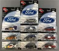 Group of 10 100% Hot Wheels Ford Series die-cast