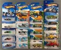 Group of 20 assorted Hot Wheels die-cast vehicles in