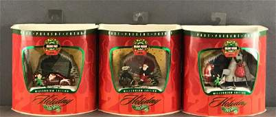 Group of 3 Holiday Hot Wheels Millennium Edition