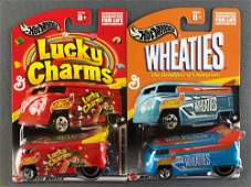Group of 2 Hot Wheels General Mills Customized VW Drag