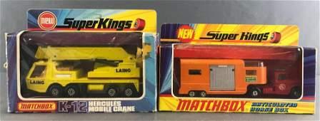 Group of 2 Matchbox Super Kings die-cast vehicles