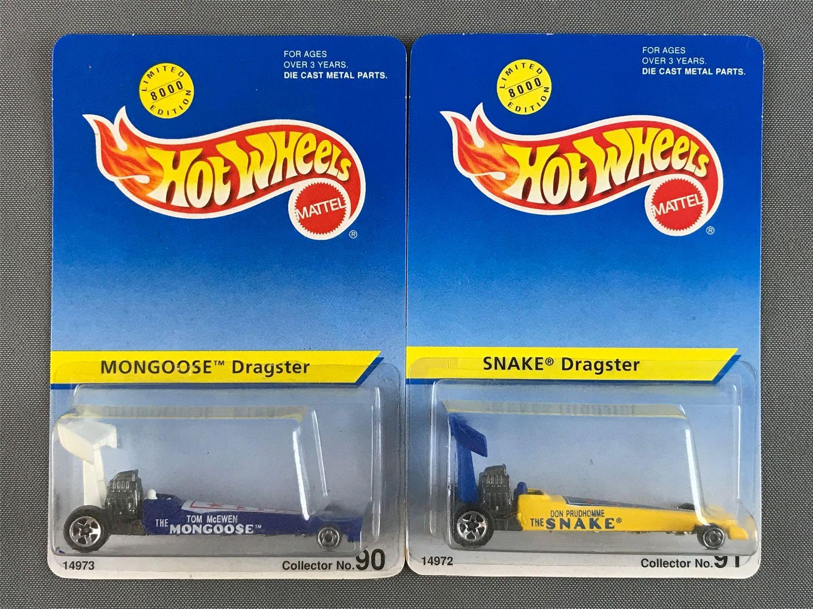 Group of 2 Hot Wheels Dragster die-case vehicles