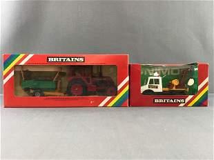 Group of 2 Britains die-cast vehicles
