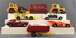 Group of 7 Corgi Toys die-cast vehicles