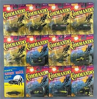 Group of 12 Matchbox Commando die-cast vehicles and