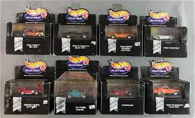 Group of 8 Hot Wheels Collectibles die-case vehicles in