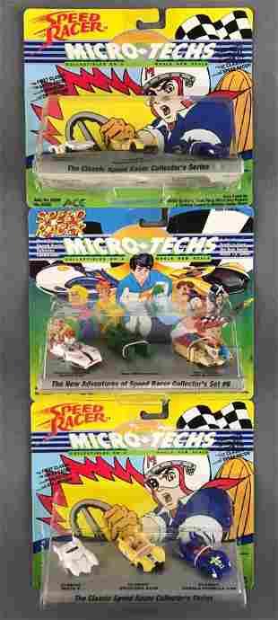 Group of 3 Speed Racer Micro-Techs die-cast vehicles