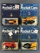 Group of 4 Tomy Pocket Cars die-cast vehicles