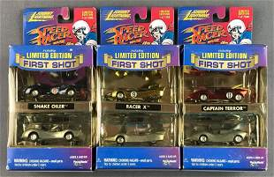 Group of 3 Johnny Lightning Speed Racers die-cast cars