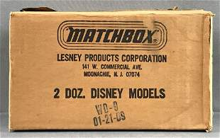 Shipping box of 24 Matchbox Disney Goofy die-cast cars