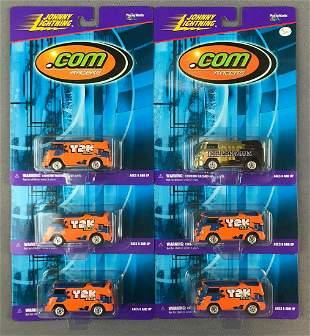 Group of 6 Johnny Lightning .com Racers 60s VW Bus