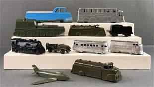 Group of 11 Midgetoy die-cast vehicles