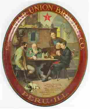 Vintage Star Union Brewing Advertising Metal Beer Tray