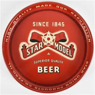 Vintage Star Model Beer Advertising Metal Beer Tray