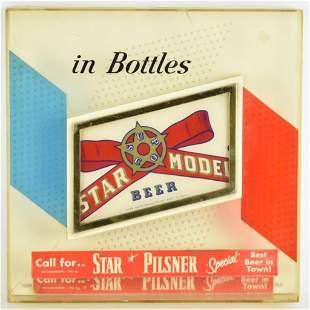 Vintage Star Model Beer Advertising Sign